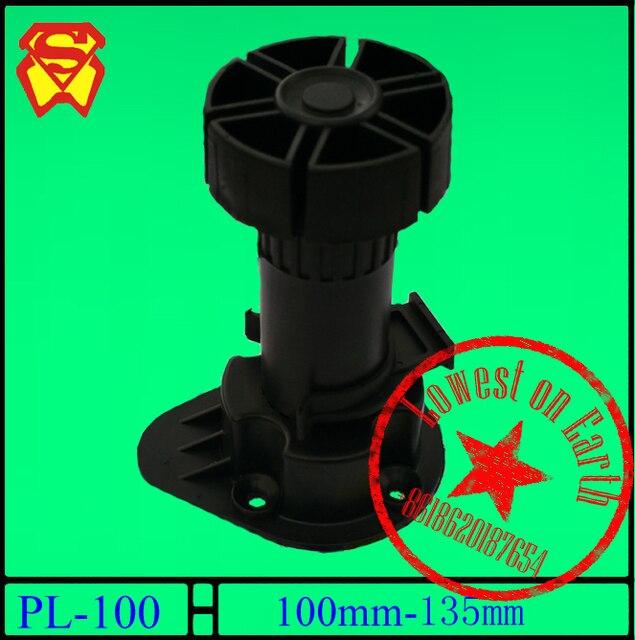 95 130mm Adjustable Feet Cabinet Foot Circular Plastic / Adjustable  Furniture Feet / PP Black