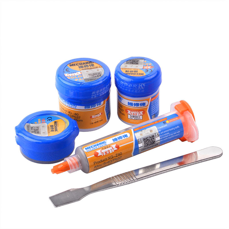 Soldering Paste Flux XG-80 XG-50 XG-30 XG-Z40 Solder Tin Sn63/Pb67 For Hakko 936 TS100 Soldering Iron Circuit Board Repair Tool