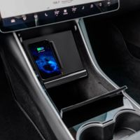 Model 3 Qi Fast Charger Wireless Charger Stand with Dual USB Ports for Model 3 Center Console Charger for All Qi Enabled Phones