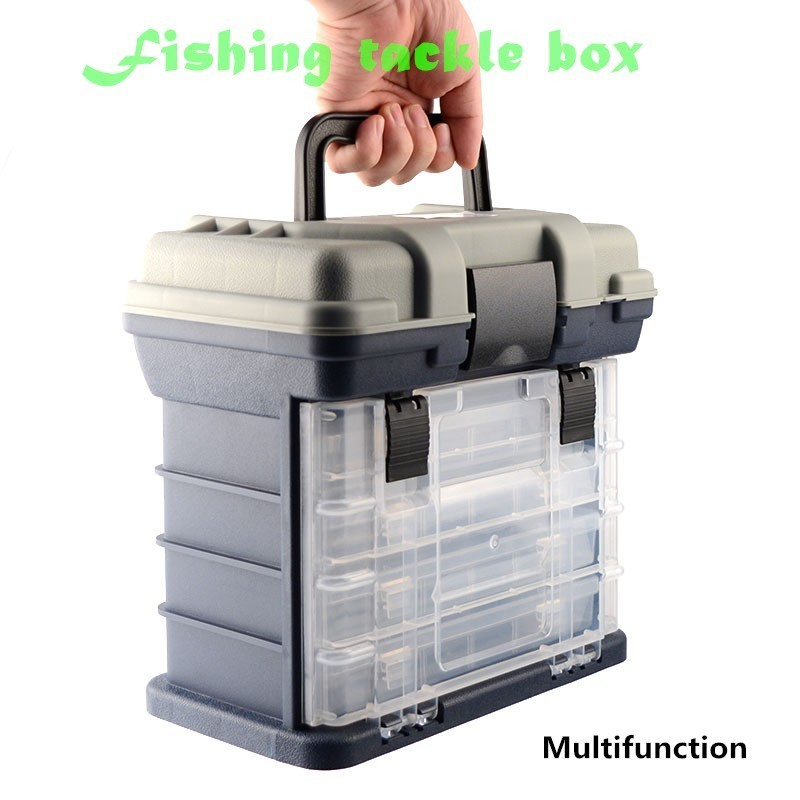Multi-function Fishing Tackle Box Portable Integrated Full Tools Accessory Storage Large Capacity Fly Lure Boat Shore Travel Kit