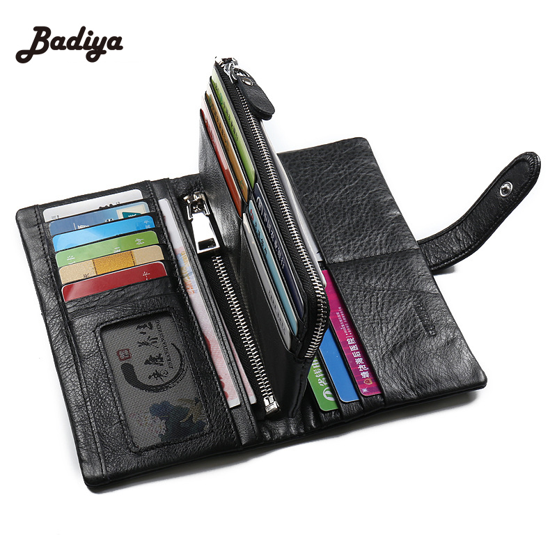 Fashion New Mens Wallet Genuine Leather Casual Multi-Card Bit Holder The First Layer Of Leather Long Section Male Coin Purse
