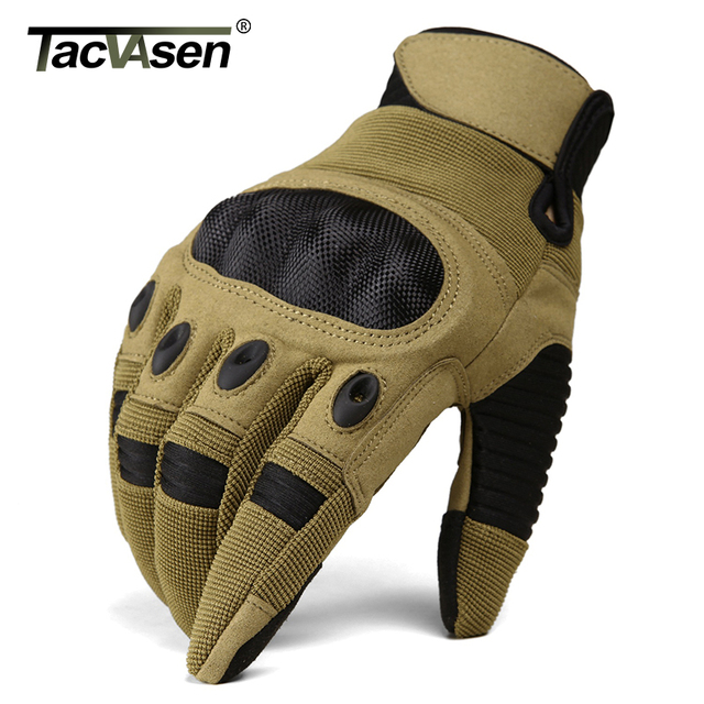 TACVASEN Military Tactical Gloves Men Airsoft Army Combat Gloves Hard Knuckle Full Finger Motorcycle Hunt Gloves Touch Screen 3