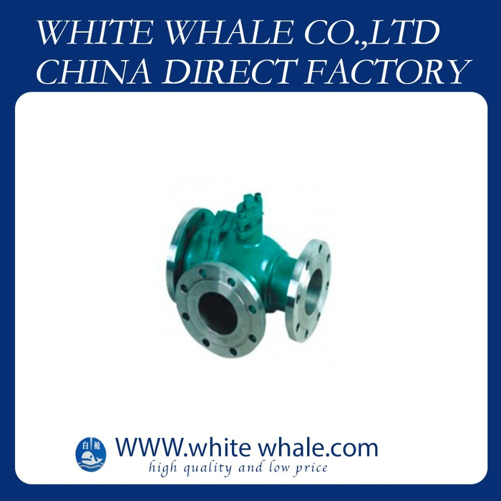 China low price Flange Connecting L type three-way 1/2 inch Stainless Steel 304 ball valve price