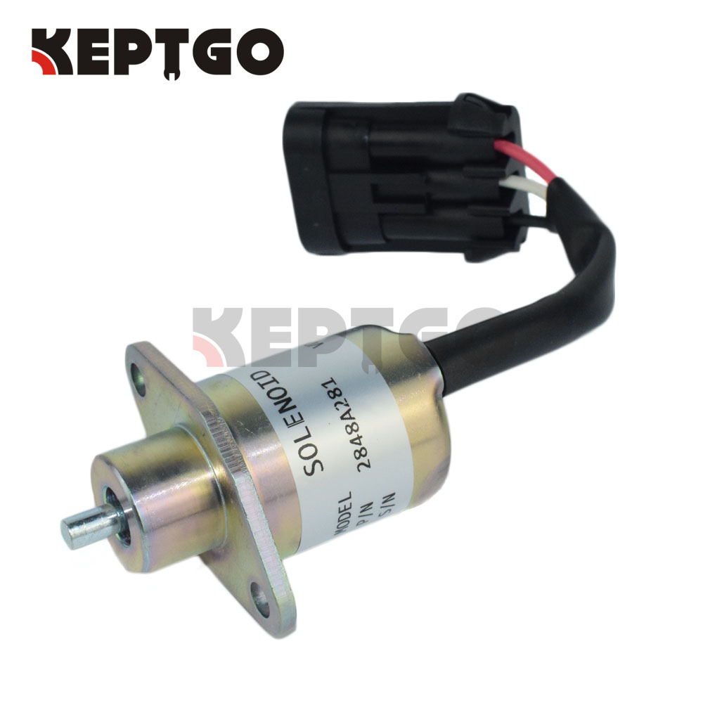 2848A281 12V Fuel Stop Solenoid For Perkins U Series 3pc fuel stop solenoid u85206452 for perkins 400 series engines 12v fast free shipping