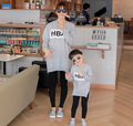 Spring autumn mother daughter t-shirts letter printed t shirts long sleeve matching mum girl clothes mommy and me clothes