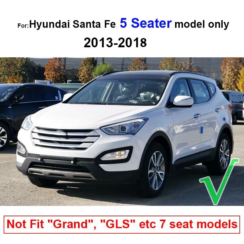 Image 5 - Fit For Hyundai Santa Fe 5 Seater IX45 2013 2018 Floor Mat Rear Trunk Cargo Tray Boot Liner Carpet Protector 2014 2015 2016