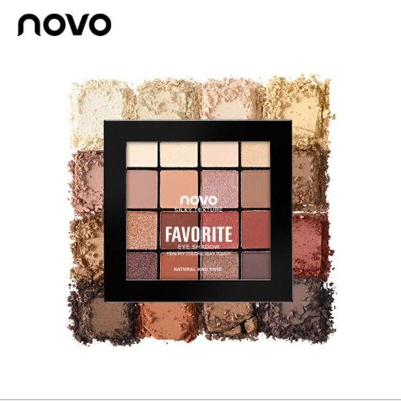 16 couleurs fard à paupières marbre plat maquillage des yeux imperméable poudre minérale miroitant ombre à paupières maquillage Palette cosmétiques pour les femmes
