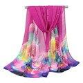 2017 Hot sale Woman Silk Scarf luxury brand Print Hijab Women's Scarves Fashion Chiffon Silk soft Shawl Lady Beach towel Scarfs