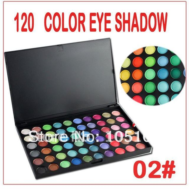 Free Shipping!! Pro 120 Color Eye shadow Makeup Eye Palette cosmetics kit 02# no logo Dropshipping!