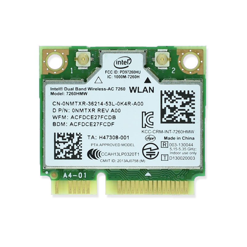 Intel 7260 Intel7260 7260AC 7260HMW 2.4&5G 867M BT4.0 MiniPCIe WiFi Wireless Card