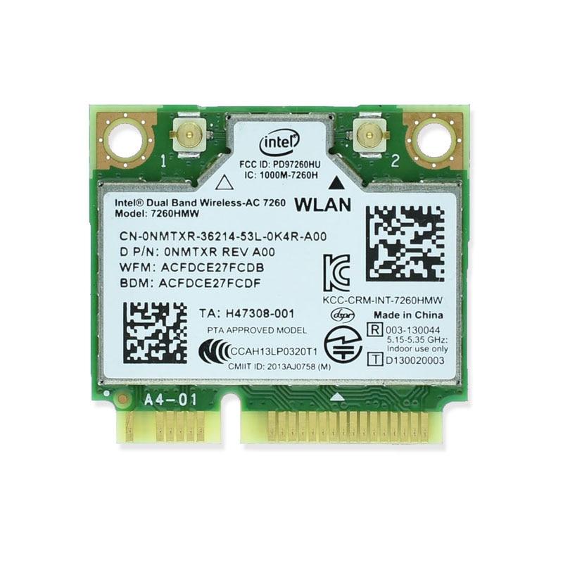 Brand New For Intel 7260 Intel7260 7260AC 7260HMW 2.4&5G 867M Bluetooth 4.0 Mini PCIe WiFi Wireless Network Card