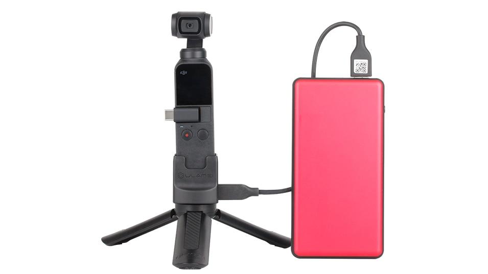 Ulanzi OP2 Gimbal Accessories for Dji Osmo Pocket Vertical Gimbal Base Holder Fixed Mount 1/4 Screw USB Charging Port Type-C 12