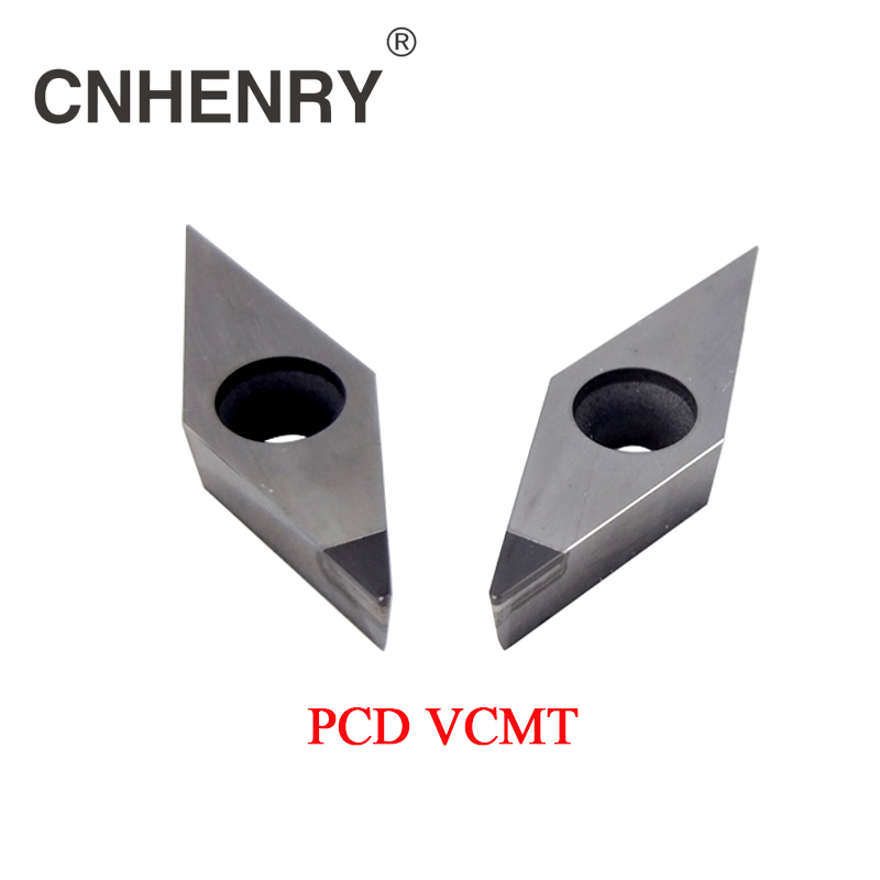 2 PCS PCD Machining Lathe Turning Inserts VCMT 160401/02/04/08/12 CNC PCD Diamond Inserts Carbide Lathe Cutter CNC Tools full face pcd inserts rngn0904