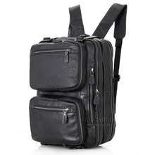Leather backpack men premium quality genuine leather men backpack fashion male backpack multifunctional black leather backpack