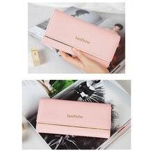 Купить с кэшбэком New Fashion Women Wallets Long Style Multi-functional wallet Purse Fresh PU leather Female Clutch Card Holder Small Bags