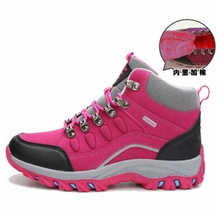 outdoor winter high top hiking shoes women waterproof breathable climbing trekking hiking shoes zapatillas mujer snow boots 288k
