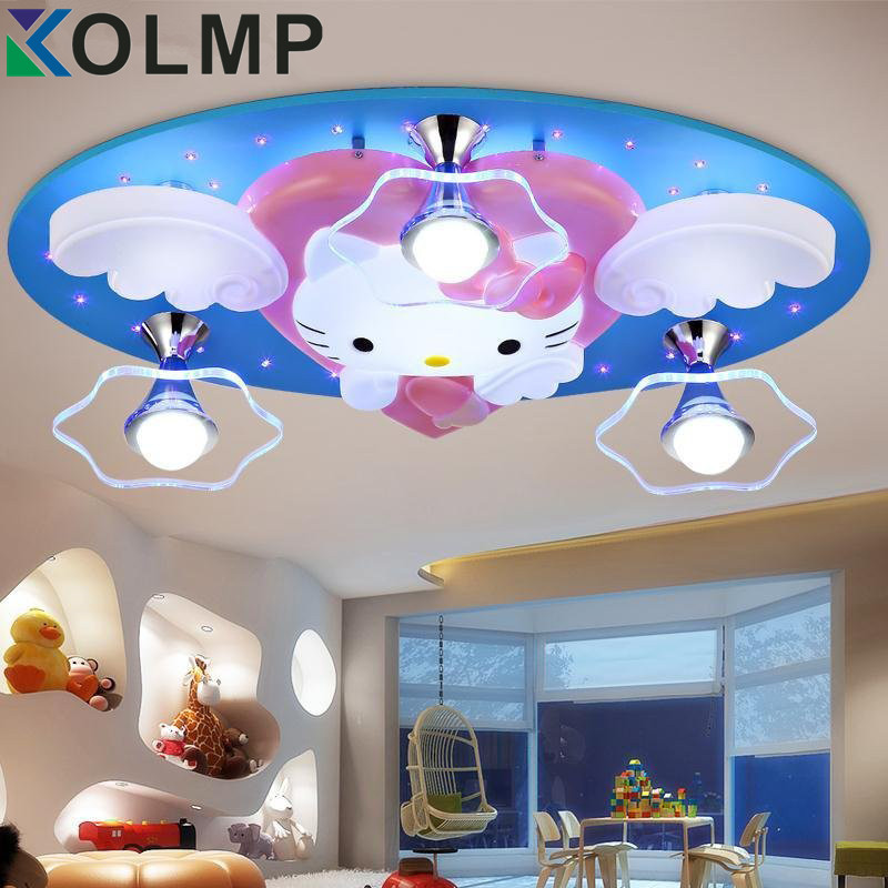 Newest Hello Kitty Cat Led Ceiling Lights Fixture Cute Girls Bedroom Ceiling Lamps Kids Child