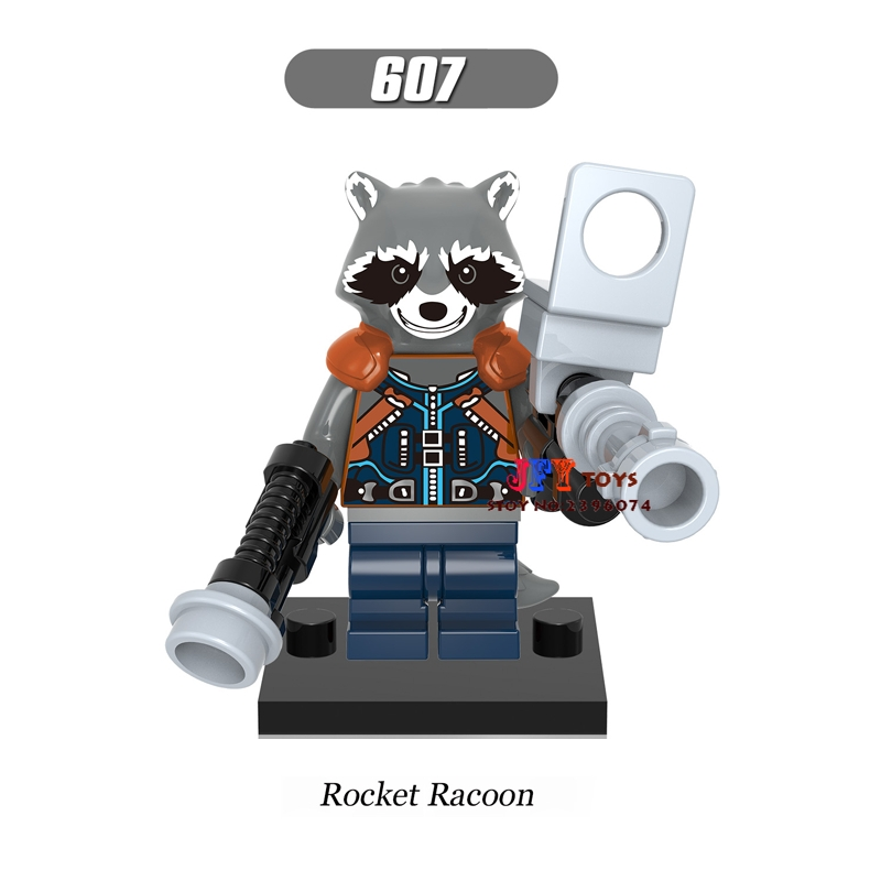 50pcs Guardians of the Galaxy Rocket Raccoon building blocks bricks friends for boy Gift children toy brinquedos menina