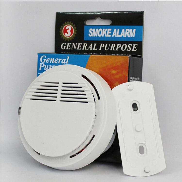 Wireless Smoke Detector Home Security Fire Alarm Sensor System Cordless White hot home security photoelectric cordless smoke detector fire sensor alarm white