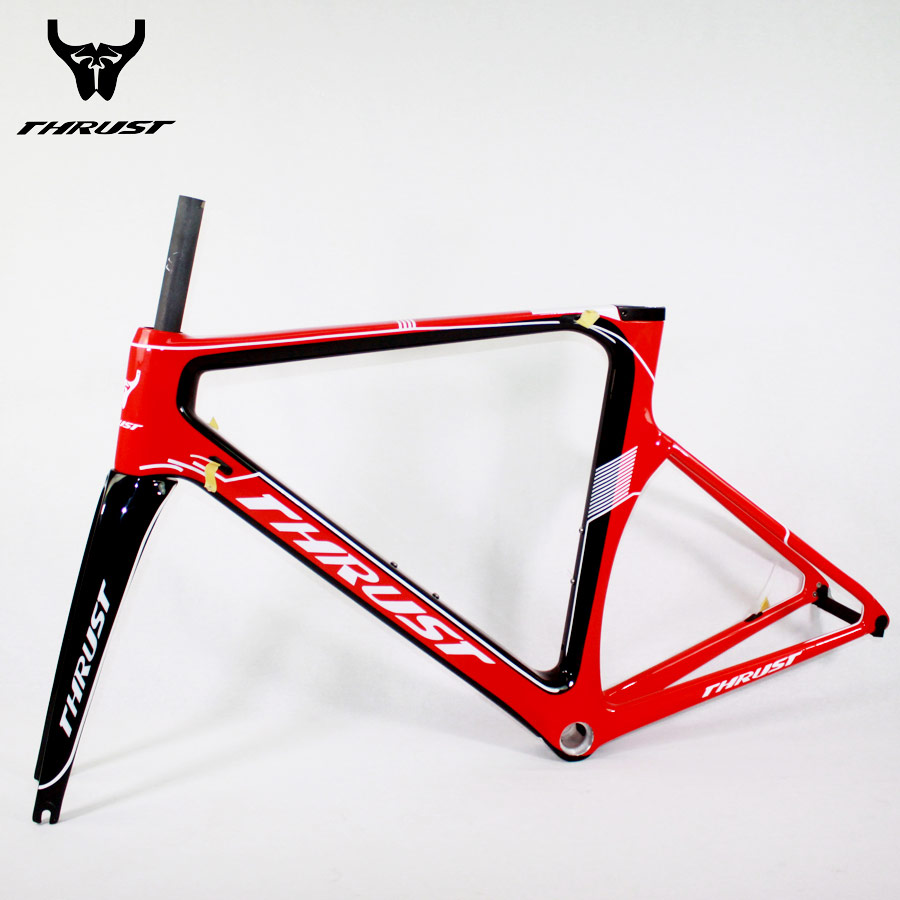 THRUST Carbon Bike Frame 48 50cm 52cm 54cm 56cm Road Frame Di2 700C Bicycle Frameset with Fork Seatpost Headset 2 Year Warranty