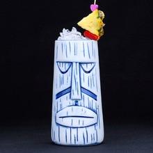 TIKI Mugs Scrub Stuttiki Cup Hawaiian Ceramic Mug Creative Cocktail Glass Personality Wine Glass TIKI Cup for Bars Party tiki enchanted tiki room