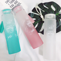Kpop Home BTS 2018 Bangtan Boys Group Official The Same Summer Gradient Frosted Glass Bottle Freshness
