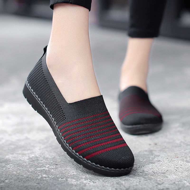 Sneakers Women Walking Shoes Outdoor Sports for Slip On Female Autumn Spring Soft Comfortable Red Gym Shoes basket femme ActiveSneakers Women Walking Shoes Outdoor Sports for Slip On Female Autumn Spring Soft Comfortable Red Gym Shoes basket femme Active