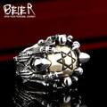 Beier new store 316L Stainless Steel ring  high quality  Men's Punk Biker Jewelry lot of multi Skull Ring BR8-285