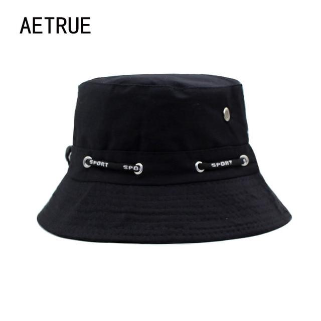 Brand Women Bucket Hats Men Blank Bob Caps Panama Sad Boy Solid Flat Hats  For Men Cap Snapback Cotton Boonie Sun Bucket Hat 2018 7ec636cc76f8