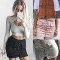 20117 новой весны и лета Европейский женская мода sexy высокий пояс замши мешок хип юбки участник юбка женщина Плюс SizeXXL