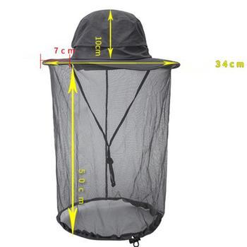 Unisex Vissen Cap Outdoor Sport Anti-Muggen Masker Vissen Hat Met Head Net Mesh Gezicht Bescherming Wandelen Camping Vissen Hoed