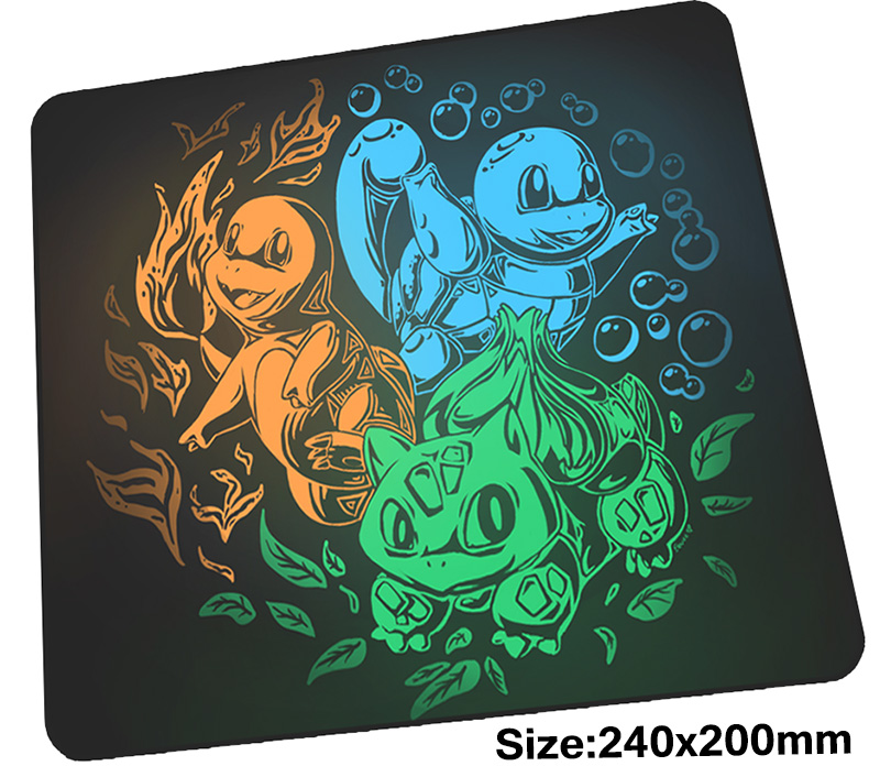 pokemons mouse pad gamer 240x200mm  notbook mouse mat Birthday gaming mousepad large present pad mouse PC desk padmouse 1