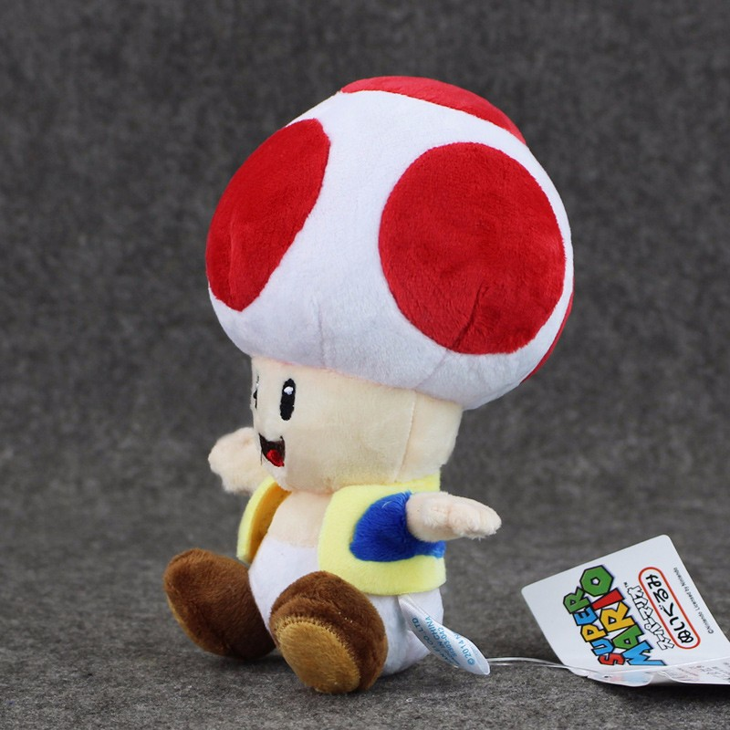 1pcs 7'' 17cmCute Super Mario Bros Plush Toys Mushroom Toad Soft Stuffed Plush Doll with Sucker Baby Toy For Kids 10