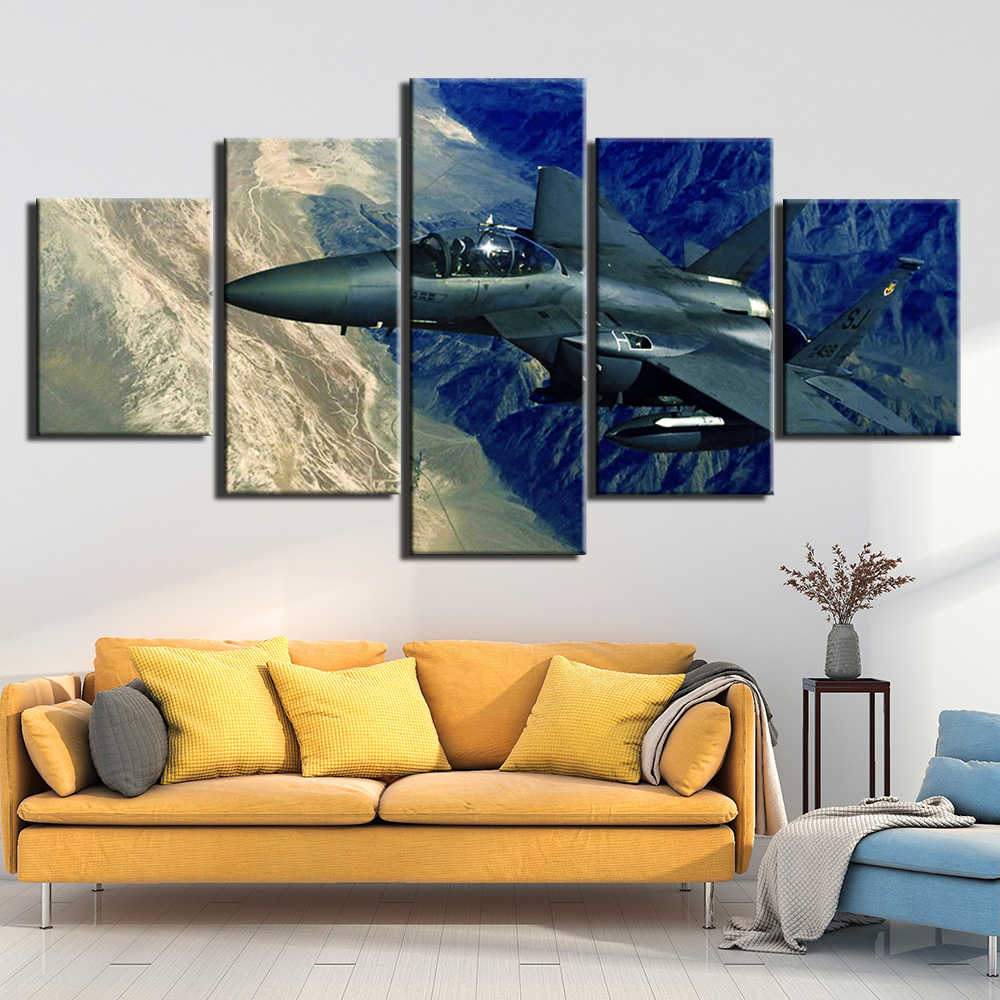 Wall Pictures For Living Room aircraft Pictures Wall Art Canvas Painting 5 Pcs Posters And Prints Home Decor