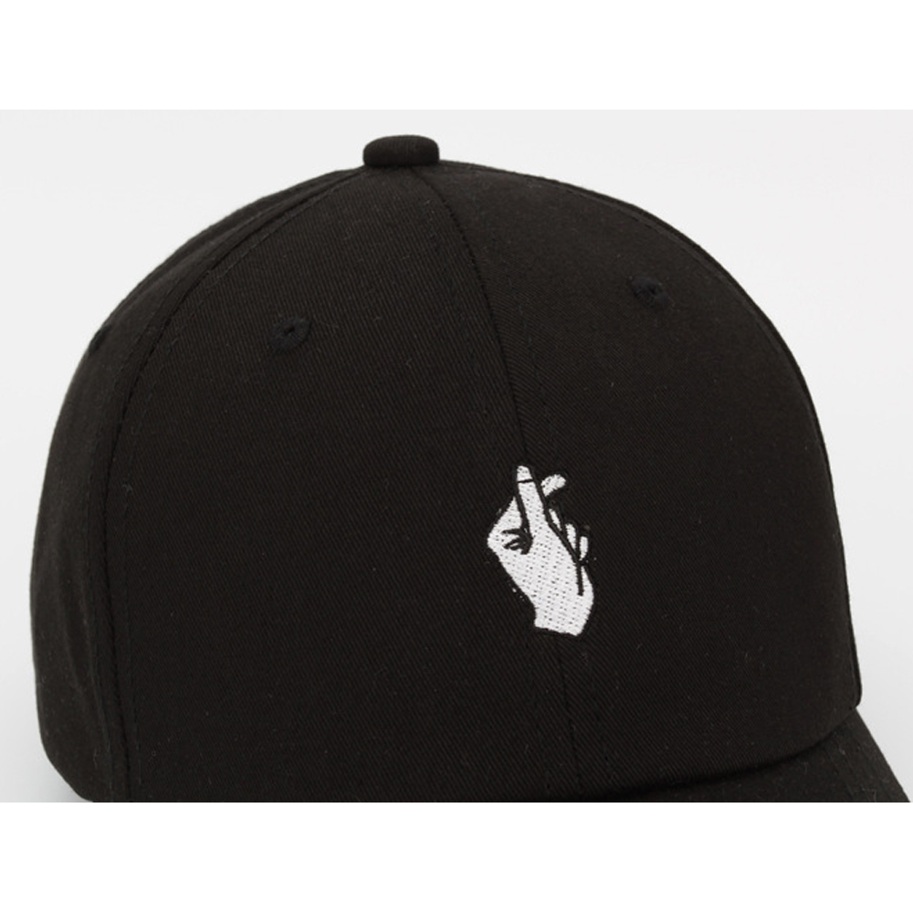 3c803ba55 US $4.24 |Fashion Love Gestures Finger Embroider Baseball Cap men women  snapback hats Flipper Little Heart Love Sun Truck Hat Gorras-in Men's  Baseball ...