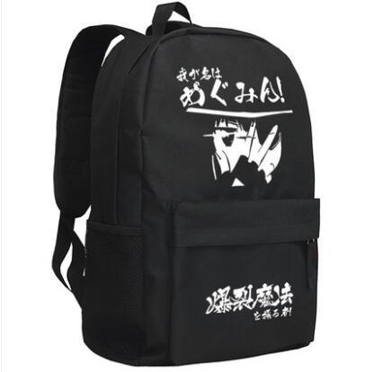 New Kono Subarashii Sekai ni Shukufuku wo Megumin Backpack Cosplay Cartoon Bag Anime Oxford Schoolbag