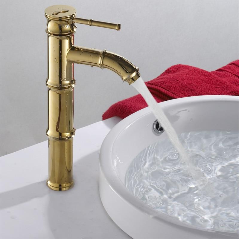 European home improvement building materials gold-plated washbasin faucet basin hot and cold bathroom seat single single hole ba