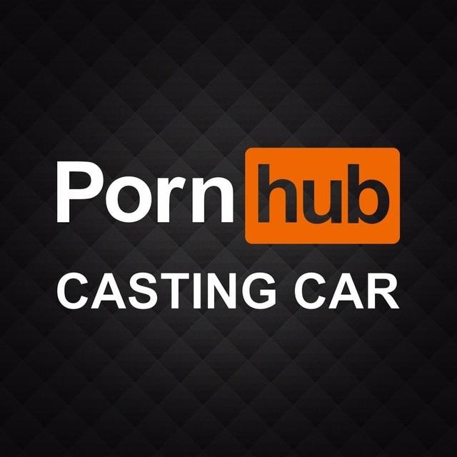 Porn Hub Castingwindow Funny Adult Die Cut Vinyl Decal Sticker 15cm