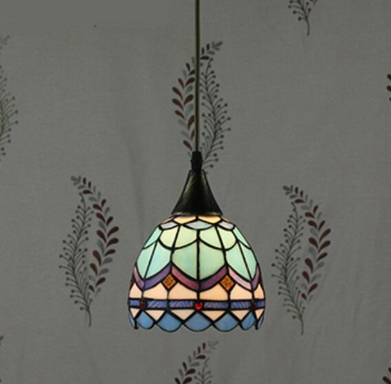 Tiffany restaurant in front of the hotel cafe bar small aisle entrance hall creative pendant light Mediterranean DF66 tiffany restaurant in front of the hotel cafe bar small aisle entrance hall creative pendant light mediterranean df66