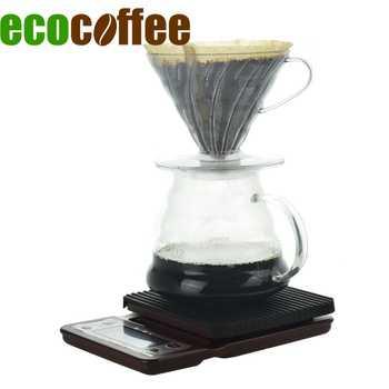 Ecocoffee-ensemble de café Pour Over V60   Pripper en plastique avec filtres en papier, bouilloire à café, échelle de cuisine avec minuterie, accessoires Pour Barista