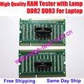 Alta Qualidade RAM Testador Com Lâmpada, Cartão De MEMÓRIA DDR2 & DDR3 Slot de memória, para Laptop