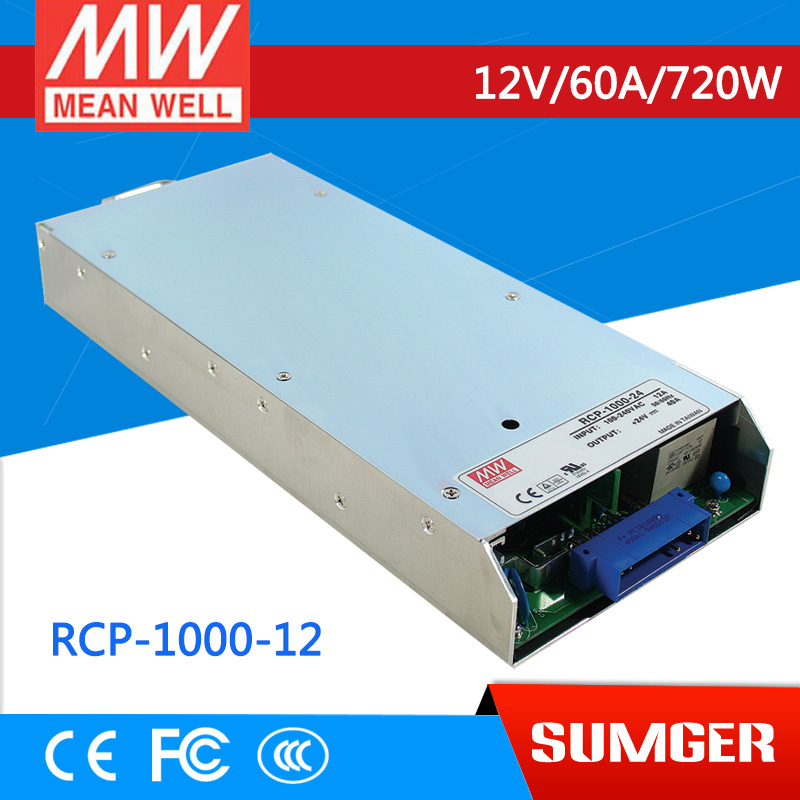 все цены на 1MEAN WELL original RCP-1000-12 12V 60A meanwell RCP-1000 12V 720W Front End Power System онлайн