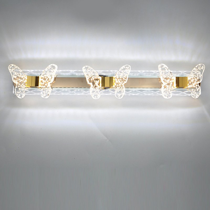 Modern Clear plastic bubble butterfly LED Bathroom Wall lamp Mirror Front wall lights Anti-fog washroom Cabinet Wall Sconce luxury modern white acrylic 12w led bathroom wall lamp mirror front fashion wall light showroom washroom wall lamp