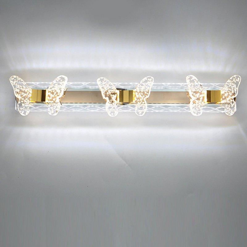 ᗑModerne en plastique Transparent bulle papillon LED Salle de Bains