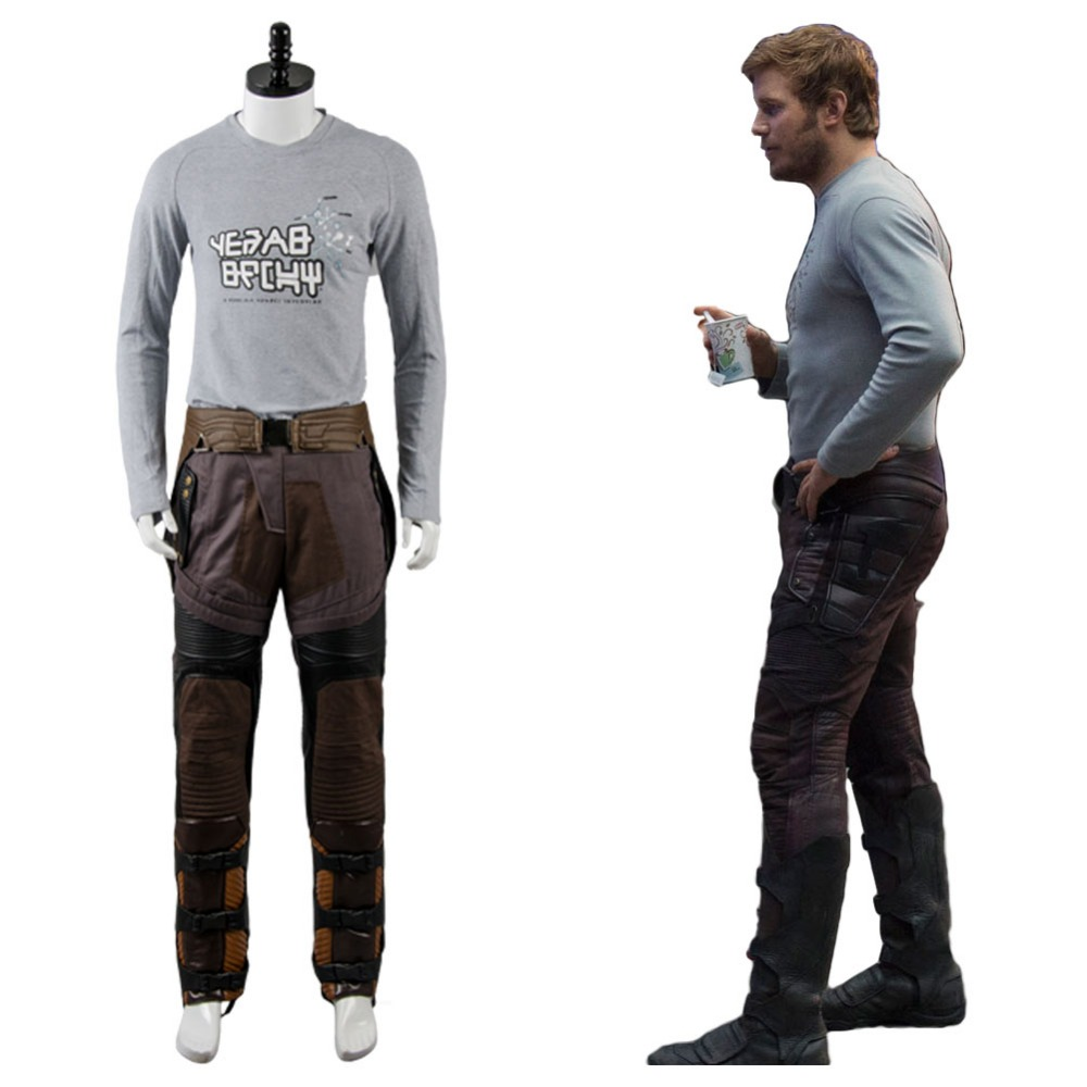 Original Guardians of the Galaxy Peter Jason Quill Starlord Uniform Shirt Cosplay Costume For Halloween Party Suit