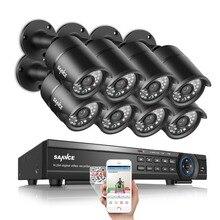 Sannce 16ch sistema 8 unids 1080 p 2.0mp hd 1080 p cctv cámaras de seguridad al aire libre impermeable ip66 cctv de la visión nocturna kit de vigilancia