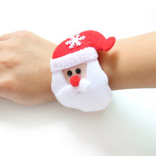 Santa Claus Snowman Deer New Year Party Toy 1PC Christmas Patting Circle Bracelet For Watch Xmas Children Gift(China)