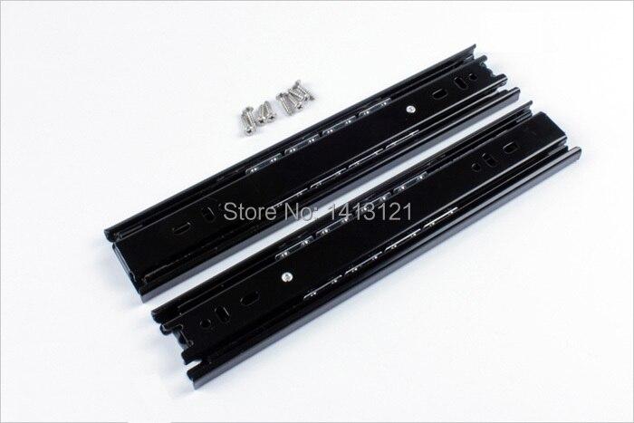 Livraison gratuite 25 cm diapositives en sourdine meubles matériel rail ordinateur bureau glisser clavier tiroir piste boule levage support inférieur