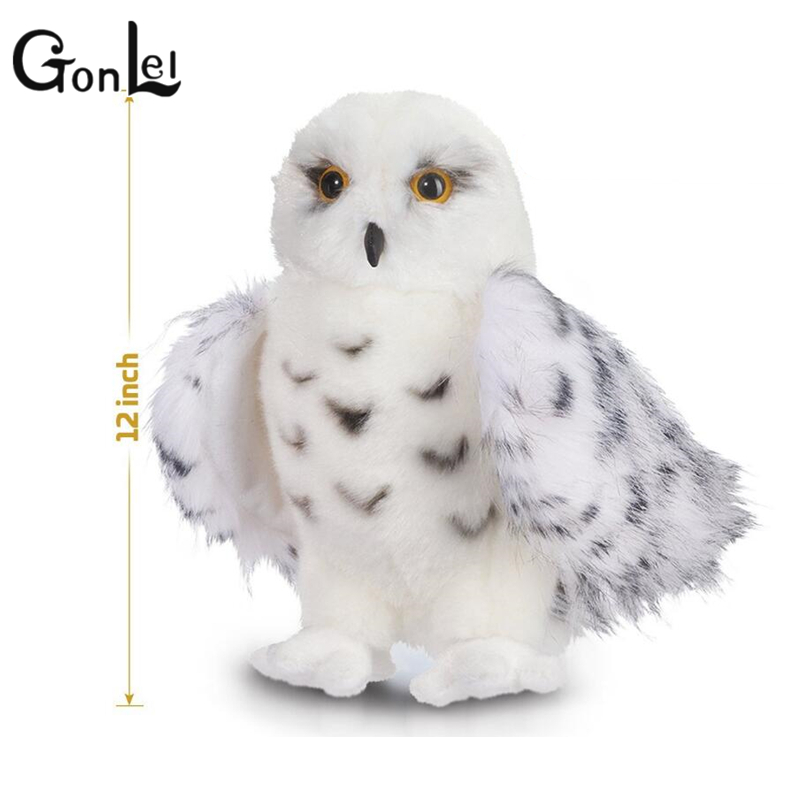 GonLeI Kids Children Adult Lovely Toys Premium Quality Snowy White Plush Hedwig Owl Toy 12 inch tall Adorable Stuffed Animal