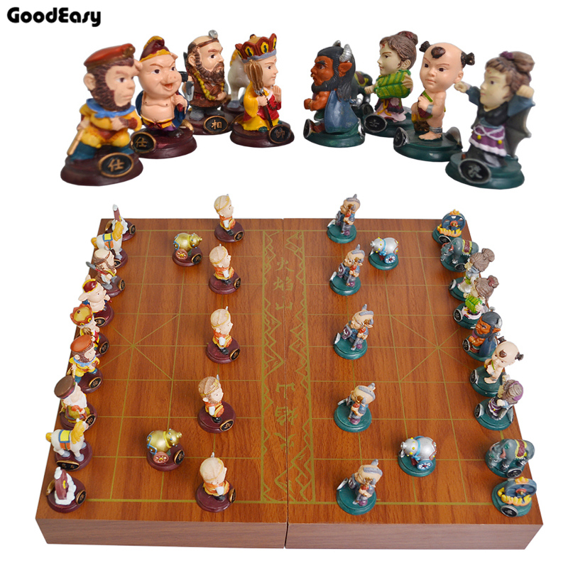 Journey to the West Chinese Chess Folding Chess Board  Chinese chess pieces / parent-child gift the elephant s journey